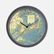Vintage Cape Cod Map (1940) Wall Clock