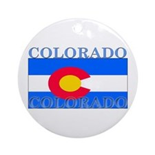 Colorado State Flag Ornament (Round)