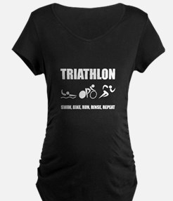 Triathlon Rinse Repeat Maternity T-Shirt