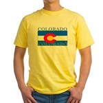 Colorado State Flag Yellow T-Shirt