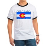 Colorado State Flag Ringer T