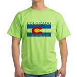 Colorado State Flag Green T-Shirt