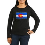 Colorado State Flag Women's Long Sleeve Dark T-Shi