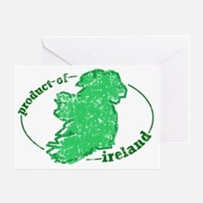 """""""Product of Ireland"""" Greeting Card"""