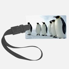 Lined up Emperor Penguins Luggage Tag