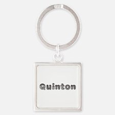 Quinton Wolf Square Keychain