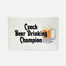Czech Beer Drinking Champ Rectangle Magnet