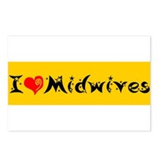 I heart Midwives Postcards (Package of 8)