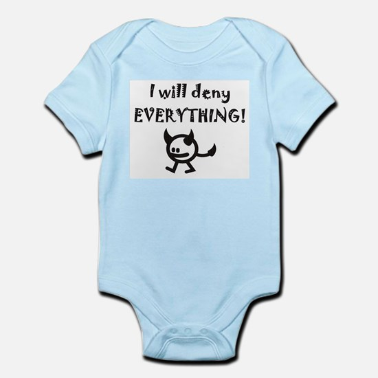 I Will Deny Everything Devil Infant Bodysuit