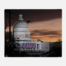 United States Capitol Building at Du Throw Blanket