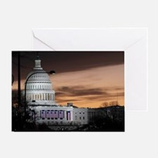 United States Capitol Building at Du Greeting Card