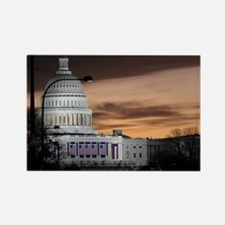 United States Capitol Building at Rectangle Magnet