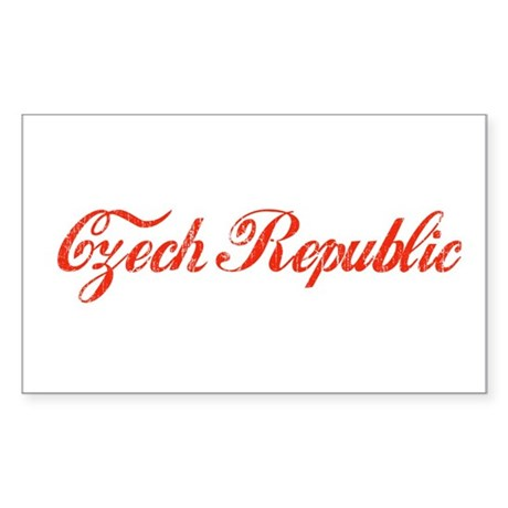 Vintage Czech Republic Rectangle Sticker
