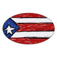 Cute Flag of puerto rico rican Decal