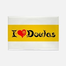 I heart Doulas Rectangle Magnet