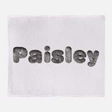 Paisley Wolf Throw Blanket