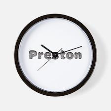 Preston Wolf Wall Clock