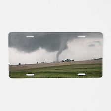 Field Tornado Aluminum License Plate