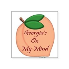 "Funny Georgia southern Square Sticker 3"" x 3"""