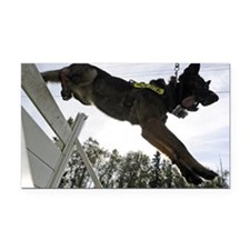 German Shepherd Police Dog Tr Rectangle Car Magnet
