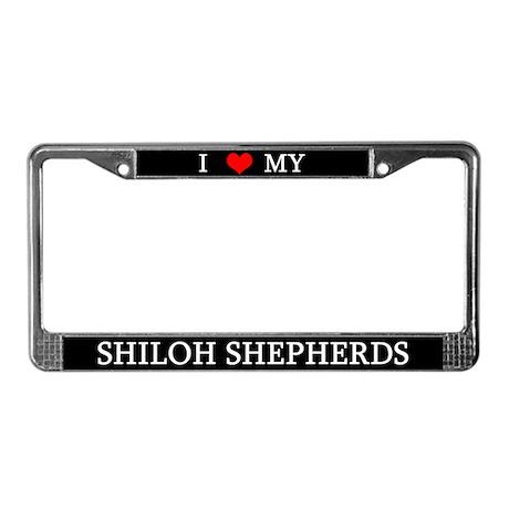 Love Shiloh Shepherds License Plate Frame