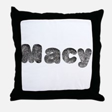 Macy Wolf Throw Pillow