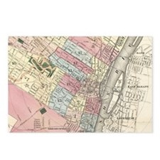 Vintage Map of Albany NY  Postcards (Package of 8)