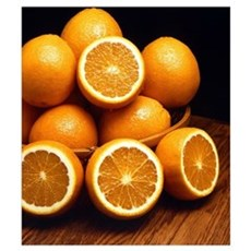 Oranges Piled Up Poster