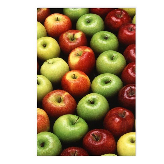 Various Types Of Apples Postcards Package Of 8 By