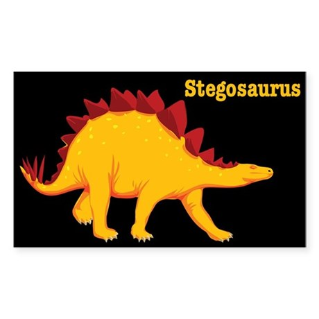 Stegosaurus Dinosaur Rectangle Sticker