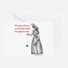 Suffering Suffragette Greeting Card