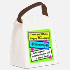 Three Rules Canvas Lunch Bag