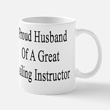 Proud Husband Of A Great Sailing Instru Mug