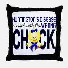 Huntington's MessedWithWrongChick1 Throw Pillow