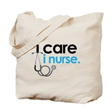 i care i nurse blue Tote Bag