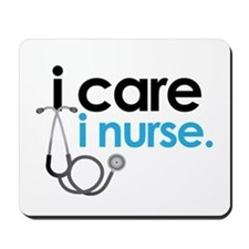 i care i nurse blue Mousepad