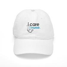 i care i nurse blue Baseball Cap