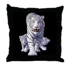 White Tigers 3 Throw Pillow