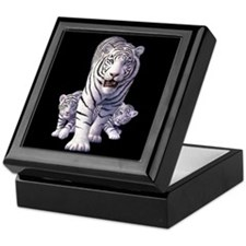 White Tigers 3 Keepsake Box
