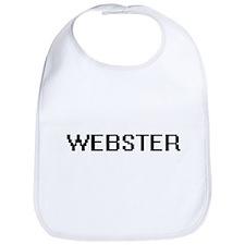 Webster digital retro design Bib