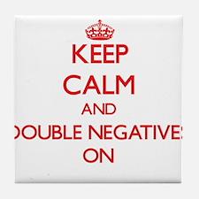 Double Negatives Tile Coaster