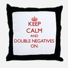 Double Negatives Throw Pillow