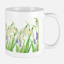 Watercolor Snowdrops and Muscari Mug