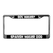 got water? Spanish Water Dog License Plate Frame