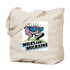 MILES FOR MIGRAINE Tote Bag