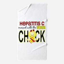Hepatitis C MessedWithWrongChick1 Beach Towel