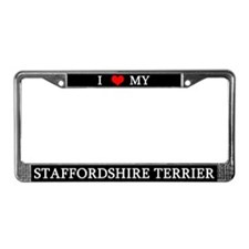 Love Staffordshire Terrier License Plate Frame