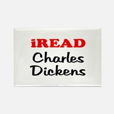 iREAD Charles Dickens Rectangle Magnet