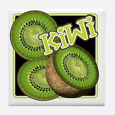 Kiwi Fruit Illustration Tile Coaster