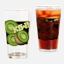 Kiwi Fruit Illustration Drinking Glass
